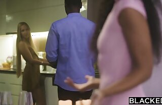 BLACKED Naughty Romy ditches her BF for her bestie's man