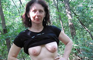 74yr old Granny with Hairy Pussy – POV Outdoor Dealings with Teen