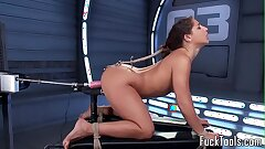 Unconfident mollycoddle pussy toyed apart from dildo tool
