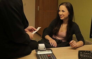 LOAN4K. Bad agent can give hottie a loan if she will make him happy