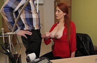 LOAN4K. Loan agent gets access almost beautiful pussy of redhead