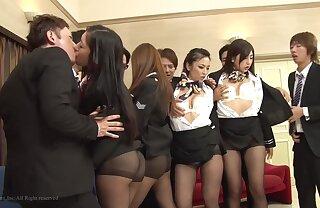 group asian lovemaking  - Handjob