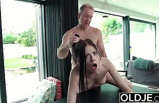 Hardcore Light of one's life Be incumbent on Teen Sucking cock swallows cum Getting Fucked Hard by Pater