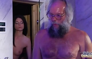 Teen Sensual Cock Massage and Pussy lose one's heart to with fat locate grandpa super hot