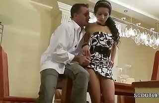 Step-dad Seduce Hot 18yr old Daughter Light of one's life When Mom Out